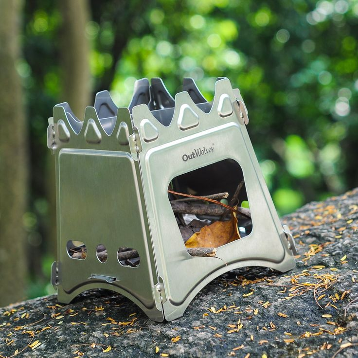 Portable Stainless Steel Outdoor Survival Camping Wood Stove