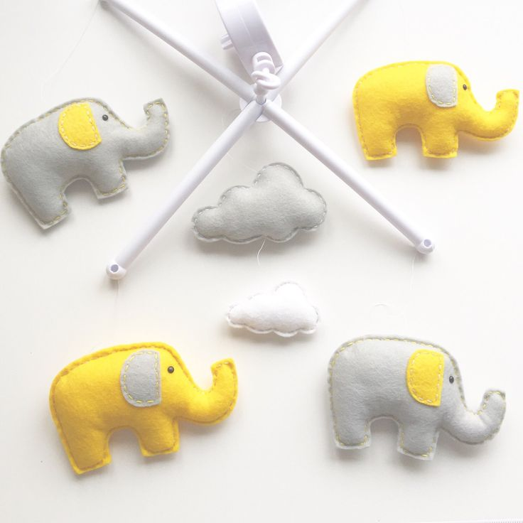 Elephant & Clouds Musical Cot Mobile, Baby Mobile, Cloud Nursery Mobile, Elephant  Nursery, Nursery Decor, Musical Cot Mobile, Grey Nursery by xCrazyLittleCraftsx on Etsy https://www.etsy.com/uk/listing/385429792/elephant-clouds-musical-cot-mobile-baby