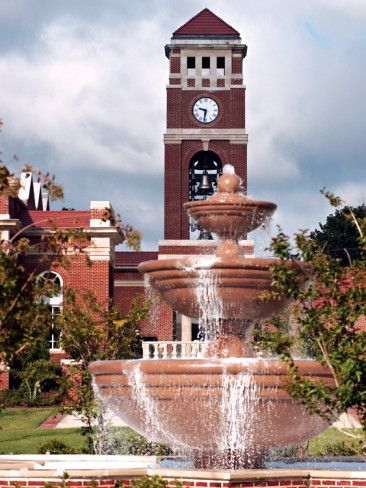 mississippi | University of Mississippi (Ole Miss) - Fountain and Chapel ...
