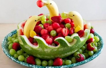 Dolphin and Fruit Watermelon Bowl