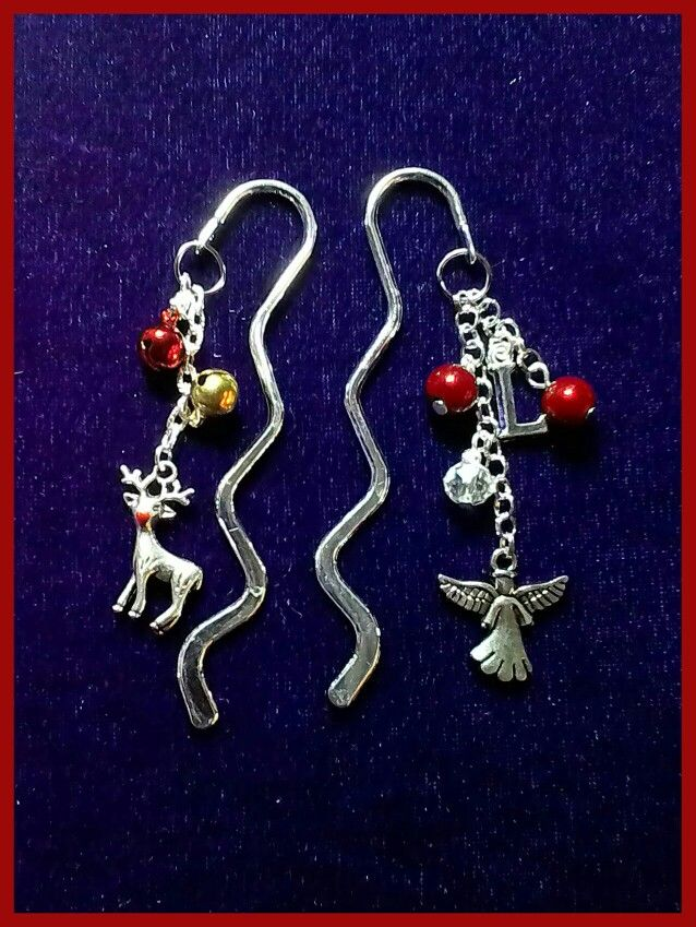 #Christmas #winter #gifts - #bookmarks with jingly #bells that can be personalised!