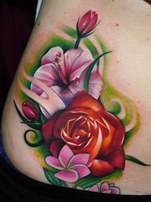 25 Hibiscus flower Tattoo Designs For Women
