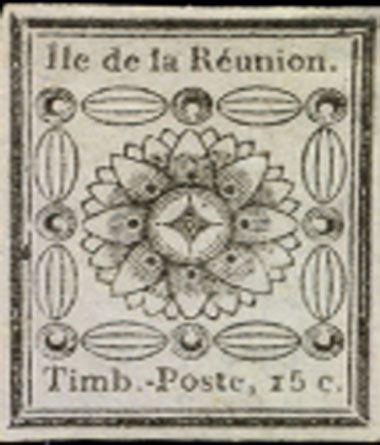 Prix d'un timbre de collection : un timbre de l'île de la Réunion de 1852