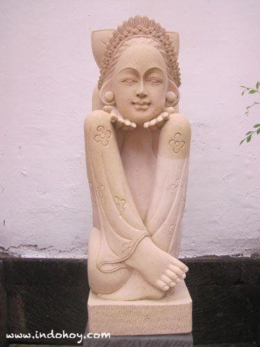 A typical statue of Balinese traditional arts, seen at Karma Jimbaran resorts, Bali.