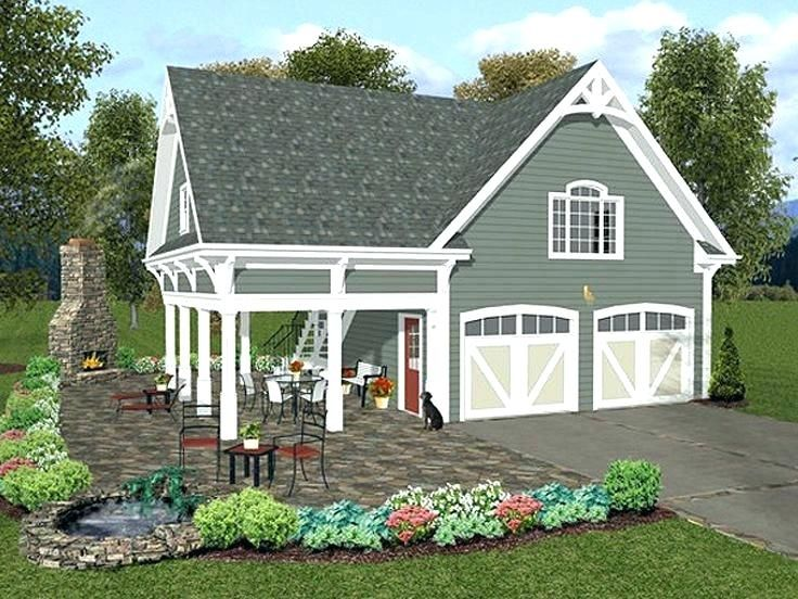Two Car Garage Cost 2 Loft Plan With