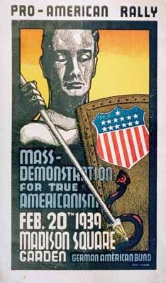 GAB Rally Poster - German American Bund - Wikipedia, the free encyclopedia