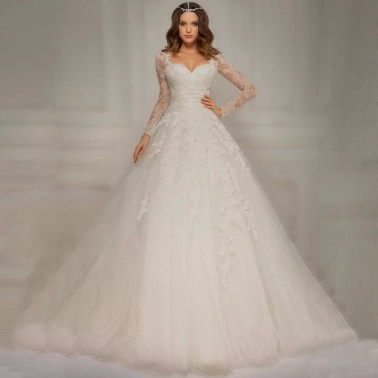 imported wedding dress long sleeve Ball Gown Bridal Gown 2017 vestido de noiva princesa chinese store online trouwjurken#online chinese store