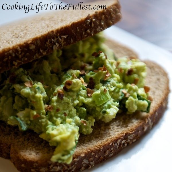 Avocado, Spinach and Egg Salad (only use egg whites)