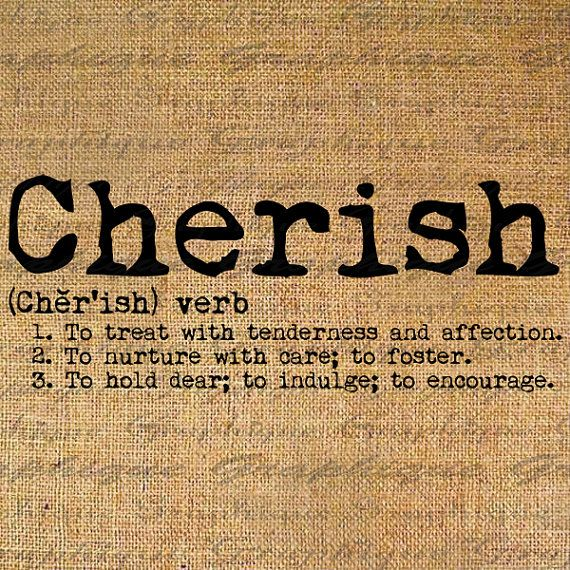 CHERISH Dictionary DEFINITION Digital Collage Sheet by Graphique, $1.00