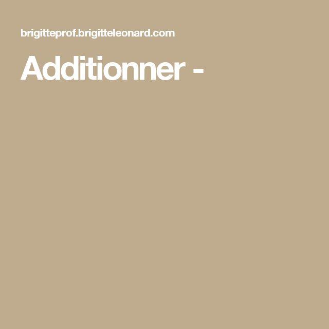 Additionner -