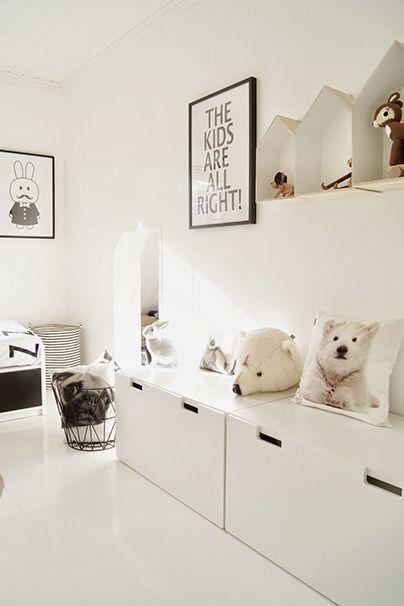 Inspirations : des chambres pour enfants en noir et blanc ici les stars ce sont les  ours polaires  ©mittlillehjerte #black #kids #bedroom #polarbear