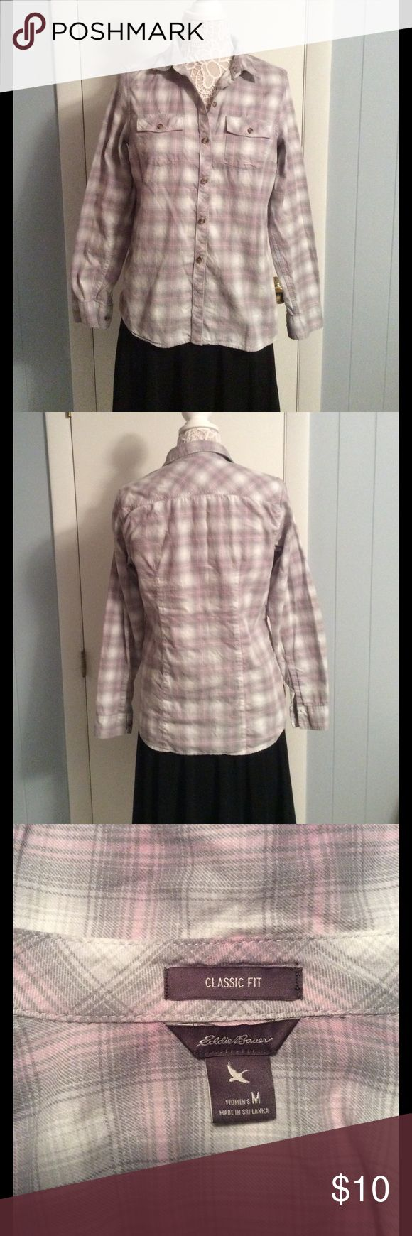 Women's Flannel Shirt Women's flannel shirt. Size M. Semi fitted. Worn, but in good condition. Eddie Bauer Tops Button Down Shirts