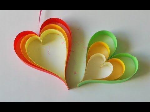 Adornos para colgar - Movil de corazones - Super Facil!!!  http://www.youtube.com/watch?v=pGYrbs35_NM=fvwrel