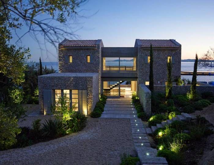 Stone + Concrete Greek House