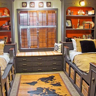 I love this fun built-in design for a kids' room. It's whimsical and practical at the same time. | Gillian Barth, assistant editor and assistant to the editor | Photo: Ronda and Les Batchelor | thisoldhouse.com