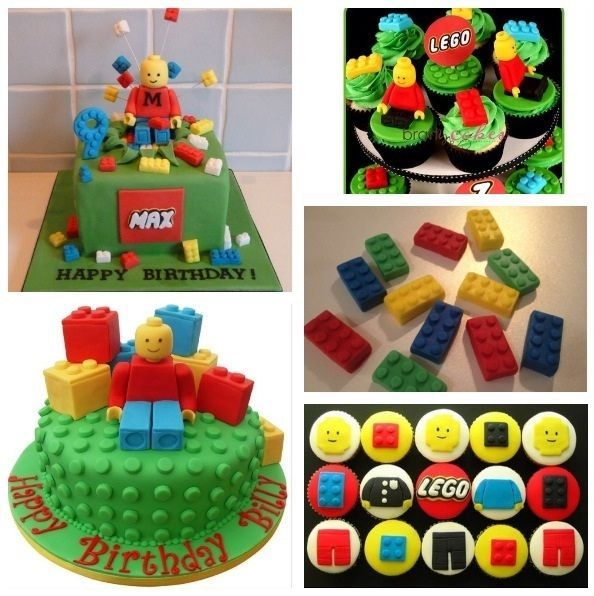 Lego Blocks Cake Design : Lego B day Cake Topper/Edible Fondant Figure Cupcake Boys ...