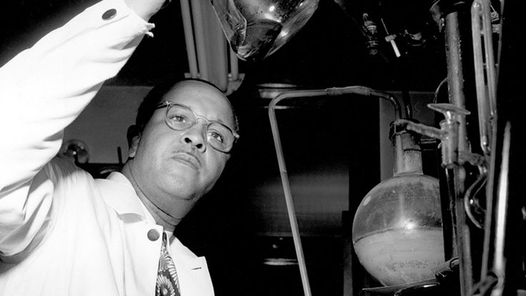 pbsthisdayinhistory:  April 11, 1899: Chemist Percy Julian Is Born On this day in 1899, chemist Percy Julian (today's Google Doodle) was born. Julian held more than 100 chemical patents, wrote scores of papers on his work, and received dozens of awards and honorary degrees. The grandson of Alabama slaves, Percy Julian met with every possible barrier in a deeply segregated America. He was a man of genius, devotion, and determination. As a black man he was also an outsider, fighting to make a…