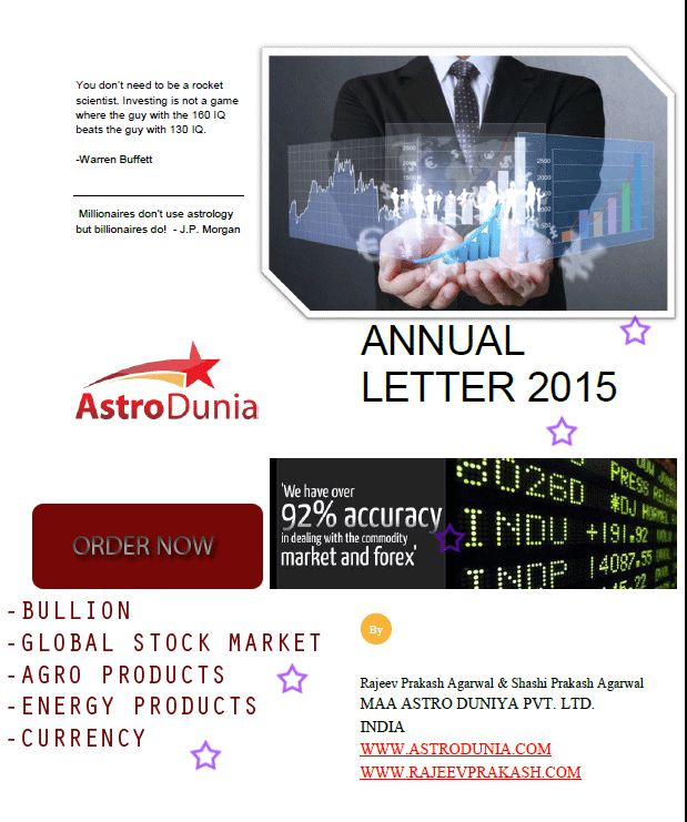 Market predictions for the year 2015 in easy words for lay men. Highly recommended for investment banking professionals and high net-worth individuals.