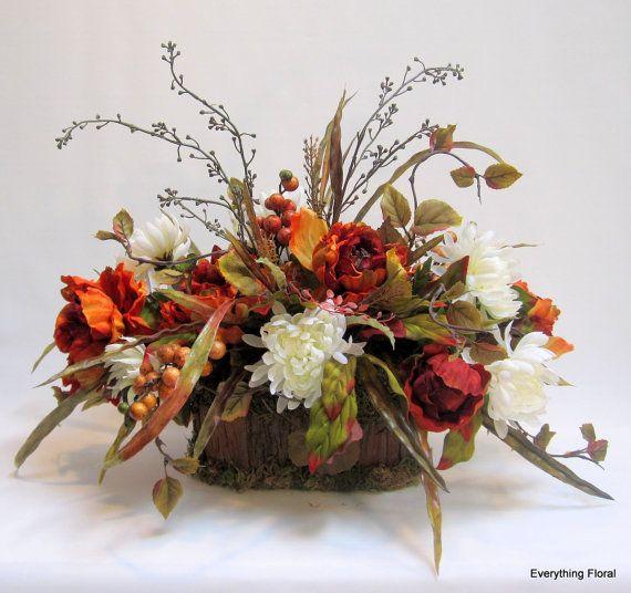Fall Silk Flower Centerpiece Arrangement in by EverythingFloral