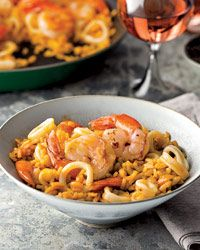 Smoky Paella with Shrimp and Squid // How to Make Paella:     http://fandw.me/L4Y  #foodandwine