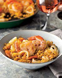 Smoky Paella with Shrimp and SquidAndre 233, Www Foodandwine Com, Smoky Paella, Jose Andre, Baby Squid Recipe, Chefs Jose, Food Wine, Smokey Paella, Seafood Paella