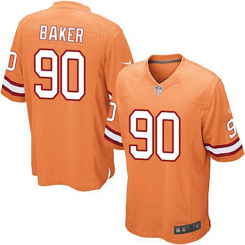 Youth Nike Tampa Bay Buccaneers #90 Chris Baker Limited Orange Glaze Alternate NFL Jersey