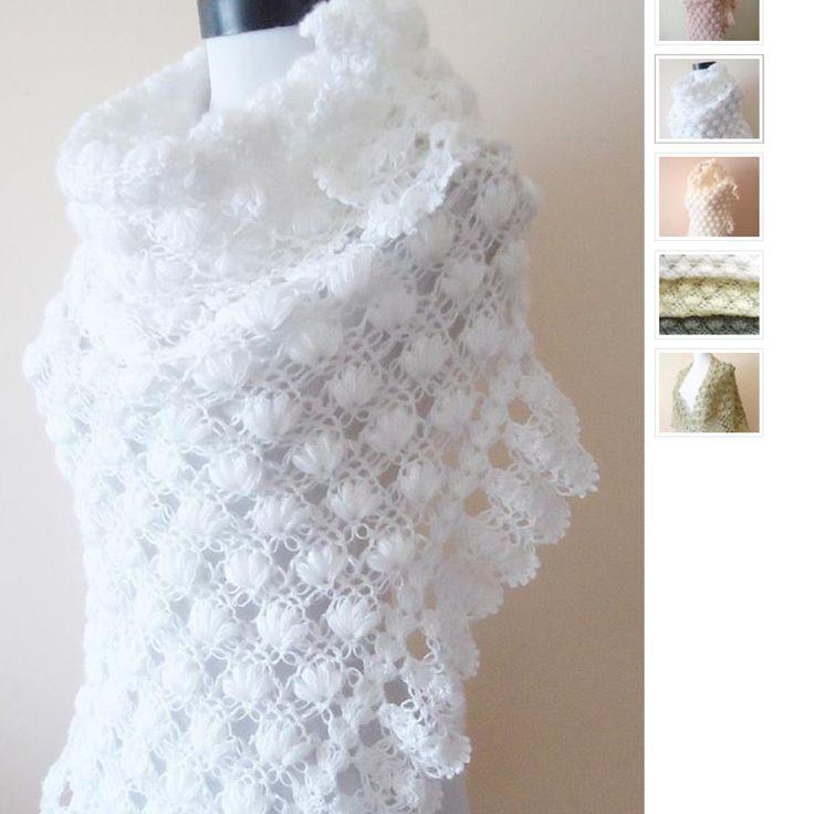 White bridal shawl, bridal wrap, winter wedding