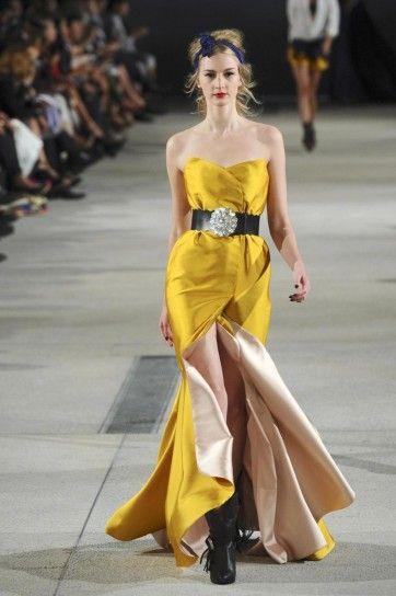 Vestito lungo giallo di  Alexis Mabille