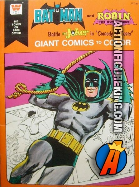 1975 Batman And Robin Battle The Joker Comedy Of Tears Giant Comics To Color Whitman 50