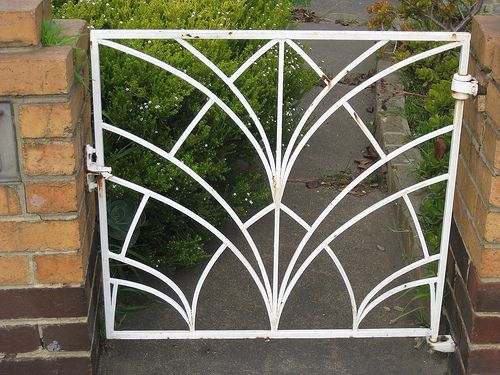 Art Deco Gate - Thornbury | This iron garden gate belonging … | Flickr