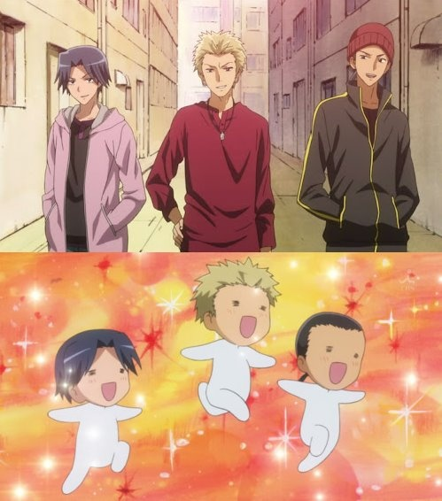 Puhahaha, the moron trio!! Gave me a ball of laughs these 3!! Loved them! *Kaichou Wa Maid-Sama!*