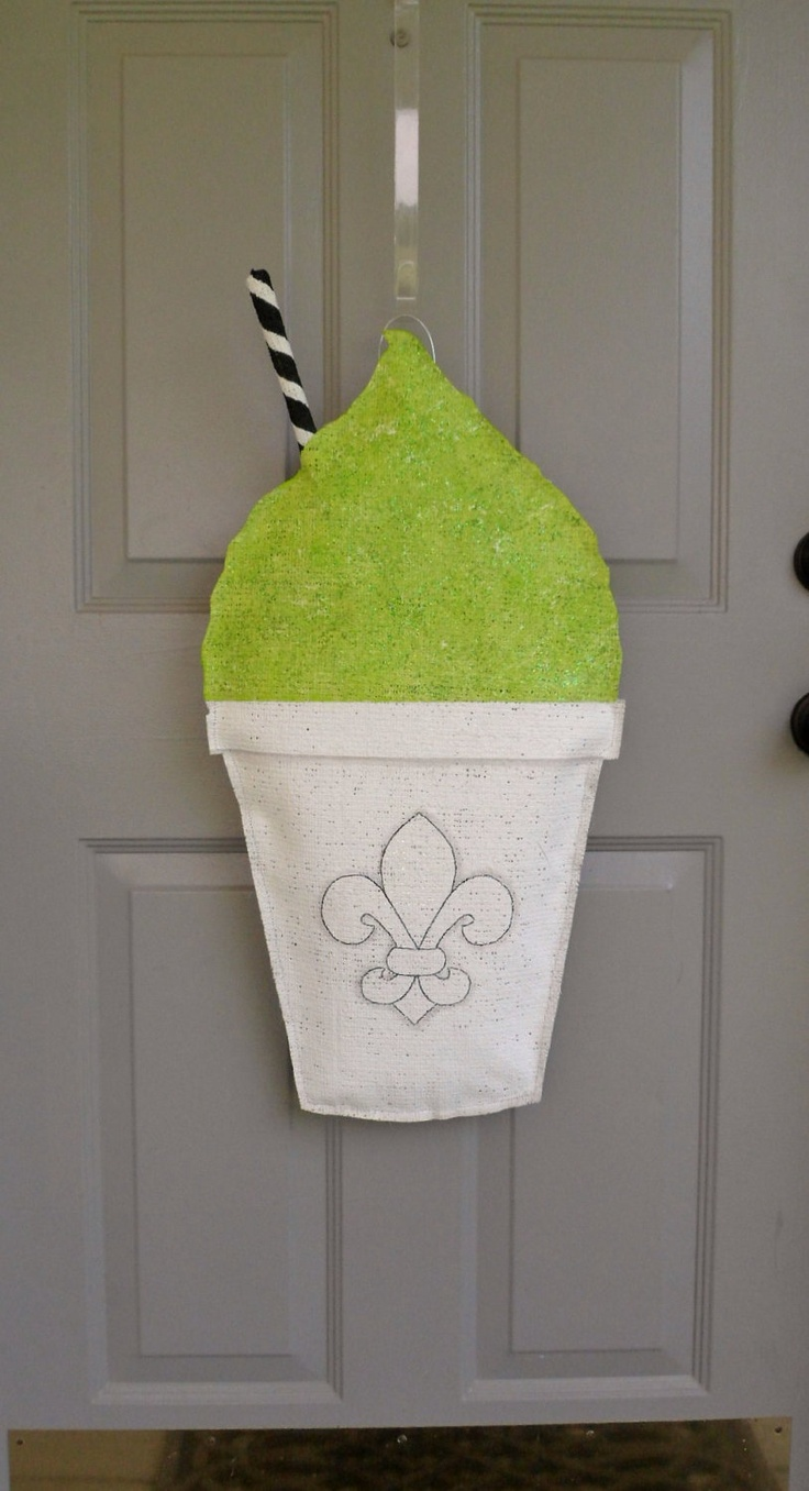 New Orleans Snowball Burlap Door Hanger 30 00 Via Etsy
