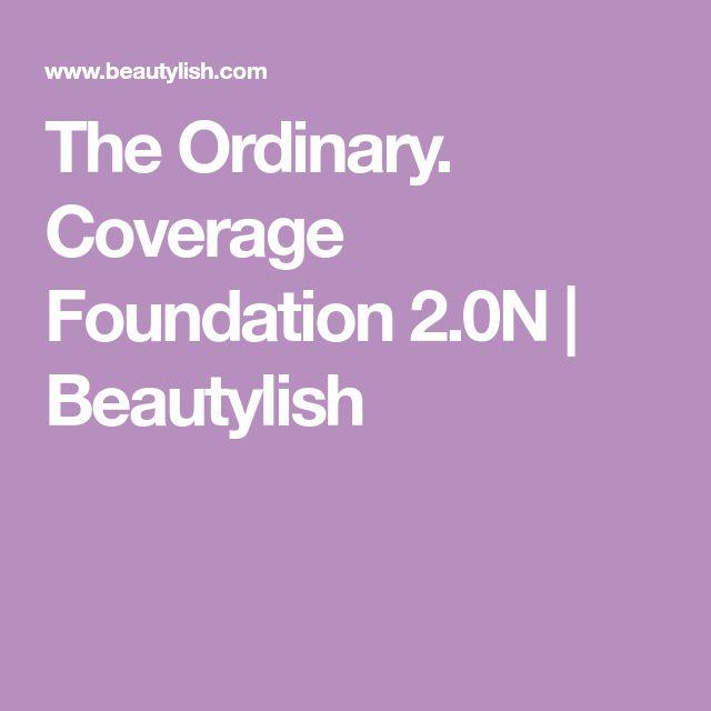 The Ordinary. Coverage Foundation 2.0N | Beautylish