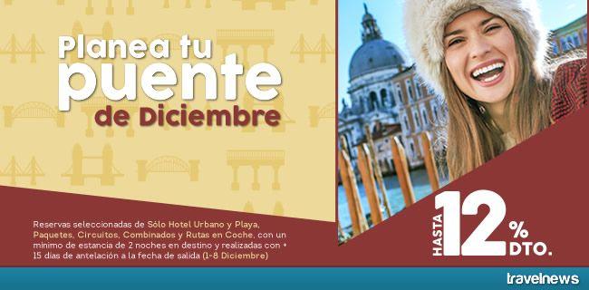 Ofertas en www.viajesviaverde.es: Puente de Diciembre: disfrútalo con un 12% de desc...