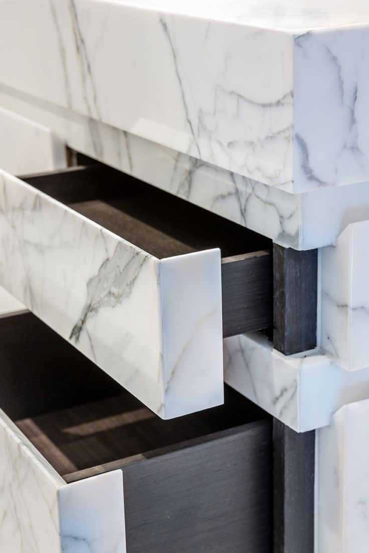 M :: Marble drawers detail