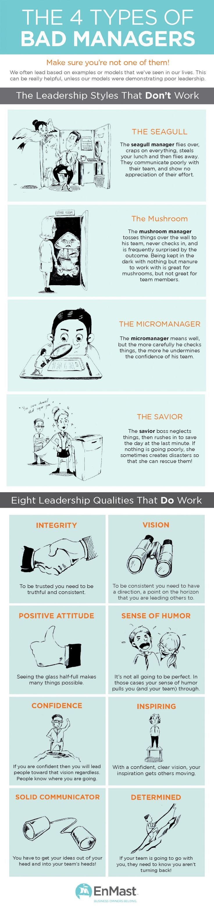 The 4 Types of Bad Managers---make sure you are following the right model ;)