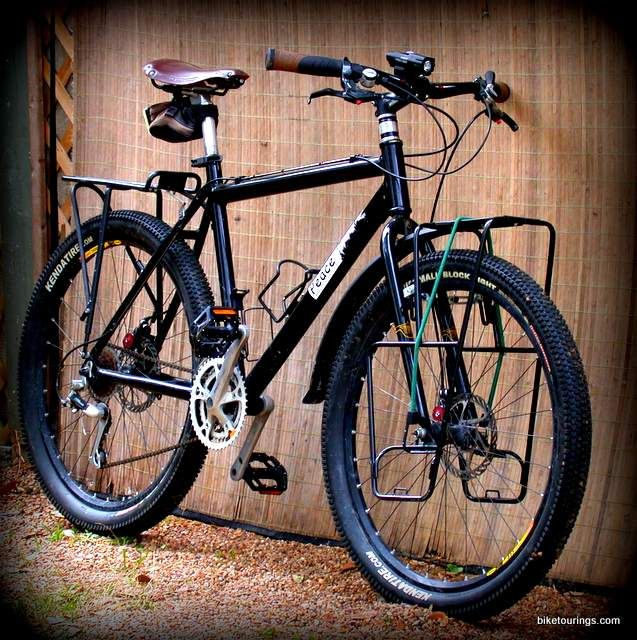 Picture of mountain bike for touring, ergonomic bike comfort and free ebooks