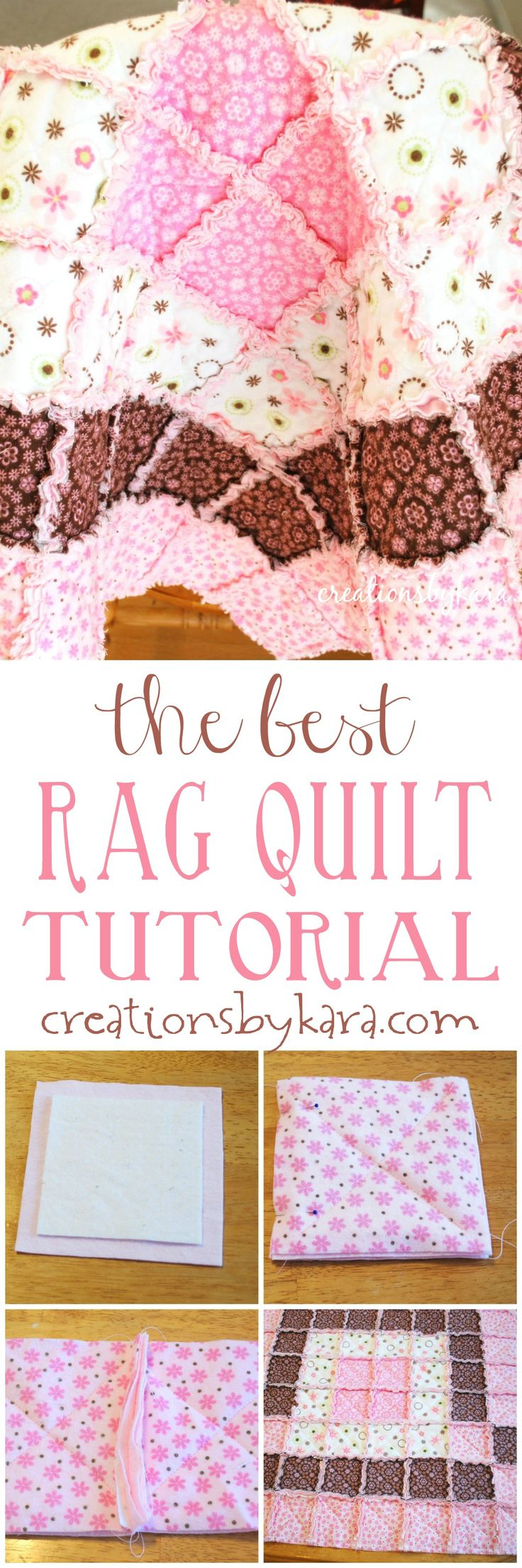 This is the best tutorial you will find for making a baby rag quilt. Even a beginner can make a beautiful rag quilt with these step by step instructions!