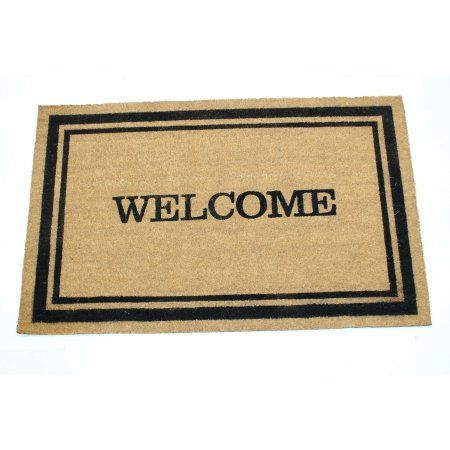 Welcome w / Frame 24x36 Inch Printed Coir Doormat, White