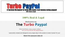 PAYPAL TURBO PREMIUM VERSION 7.8 | Earn money online is now easy with paypal turbo premium version 7.8. Earn daily $300-$500 by using this system.