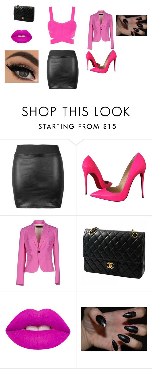 """Untitled #25"" by sterian-ioana on Polyvore featuring Christian Louboutin, Dsquared2, Chanel and Lime Crime"