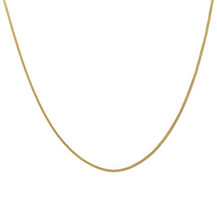"""Passport to Gold 14K Gold 1mm Wheat-Chain 16"""" Necklace"""