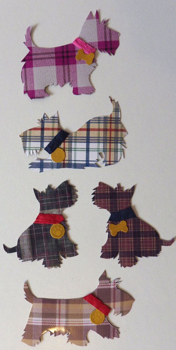 Stylish Handmade Tartan Scottie Dog Decorative Magnets by pannya
