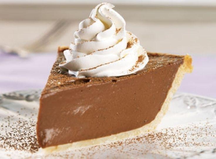 Hershey's Chocolate Cream Pie  #recipe #justapinch