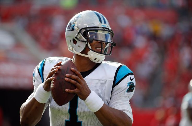 Jan 1, 2017; Tampa, FL, USA; Carolina Panthers quarterback Cam Newton (1) against the Tampa Bay Buccaneers during the second half at Raymond James Stadium. Tampa Bay Buccaneers defeated the Carolina Panthers 17-16. Mandatory Credit: Kim Klement-USA TODAY Sports