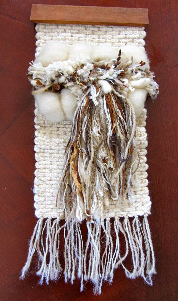 Handwoven Woven Weave Tufted Wool Tapestry Yarn Wall Hanging 3 Dimensional 3D