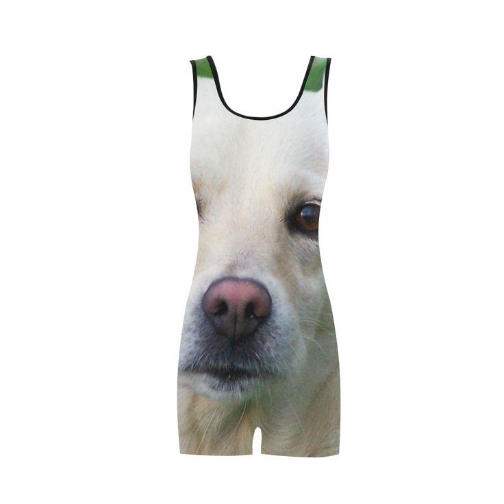 Dog face close-up Classic One Piece Swimwear.