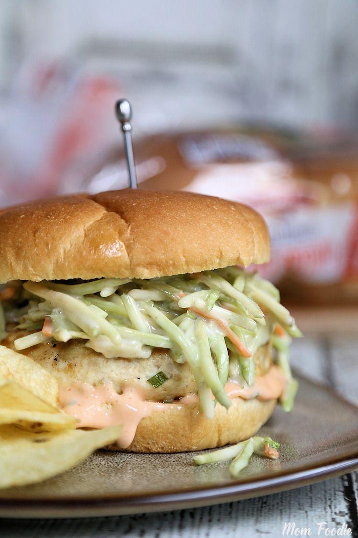 Big Burma Chicken Burger from @momfoodie