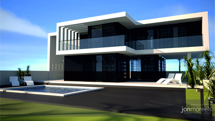 Contemporary modern villa design costa blanca spain for for Modern house villa design
