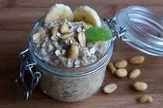 Erdnussbutter-Bananen-Overnight-Oats   Lauras Blog